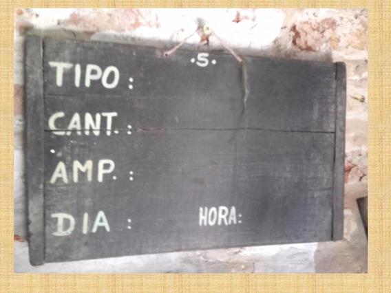 Tres Antiguos Carteles Pizarrones De Fabrica De Baterias