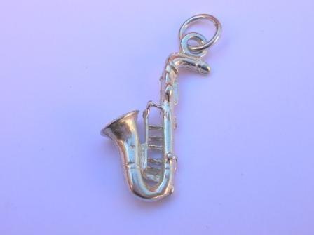 Dije De Saxofón Elaborado En Plata .925 Op4