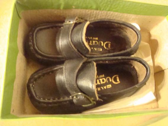 Zapatos Nene 21 Marca Duanda Azcona Color Negro Puro Cuero