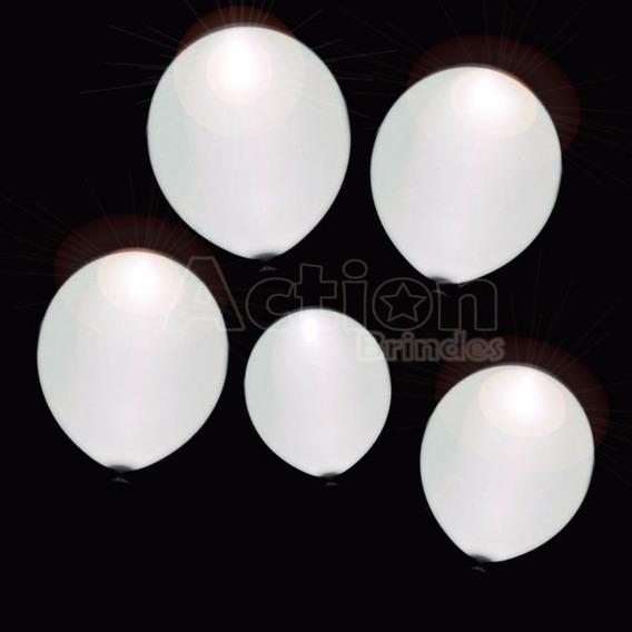 Balão De Led Branco - Kit 12 Unidades