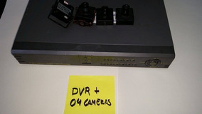 Dvr 4 Canais H264 + 02 Mini Cameras Ccd Color