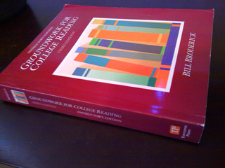 Libro Groundwork For College Reading Instructors Edition