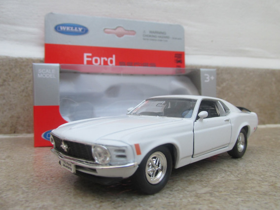 Ford Mustang Boss 302 1970 Escala 1:36 Welly Blanco