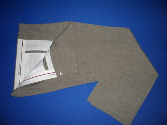 Pantalón De Vestir En Gaspeado T. 48 Finisimo