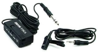Microfone Lapela Yoga Em106 Stereo P/ Hdslr Gravadores Filma