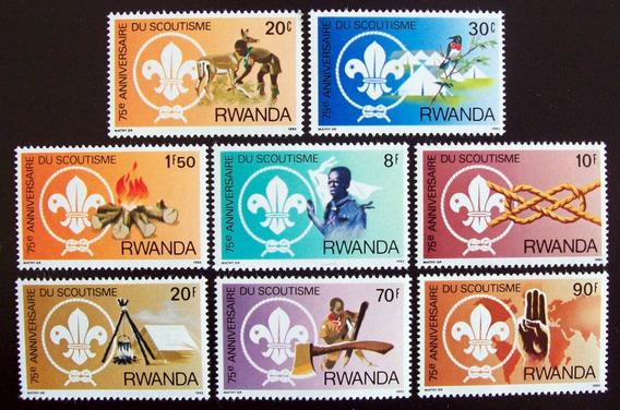 Rwanda Scouts, Serie Sc. 1122-29 1983 Mint L6619