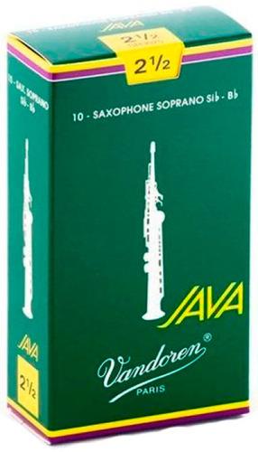 Pack De Cañas Vandoren Java Sr3025 De Saxo Soprano N2.5 X10u