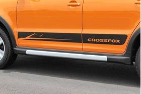 Adesivo Faixa Lateral Vw Crossfox 2011- Preto Prata Branco