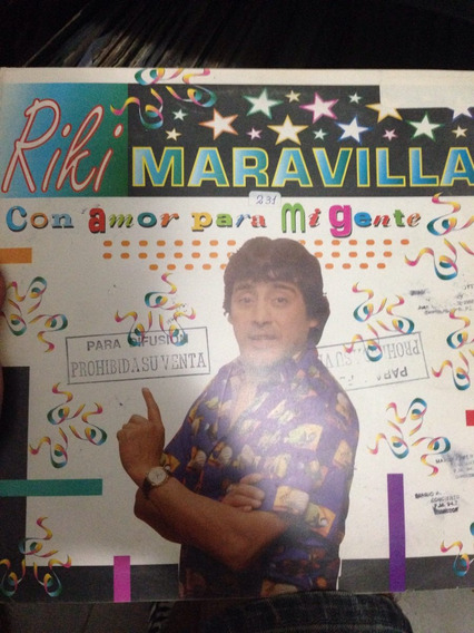 Vinilo - Riki Maravilla - Cumbia Y Cuarteto