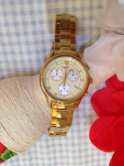 Relógio Timex Dourado Gold Lindissimo Feminino