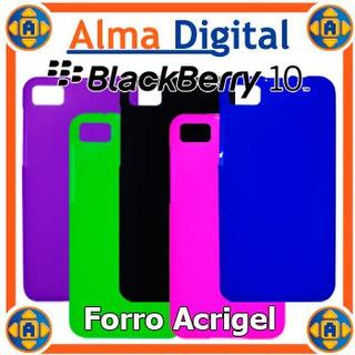2x Forro Acrigel Blackberry Z 10 Estuche Protector Goma Dura