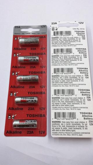 Bateria 23a Toshiba 12v. Caixa C/ 100 Unidades, Valid. 2021