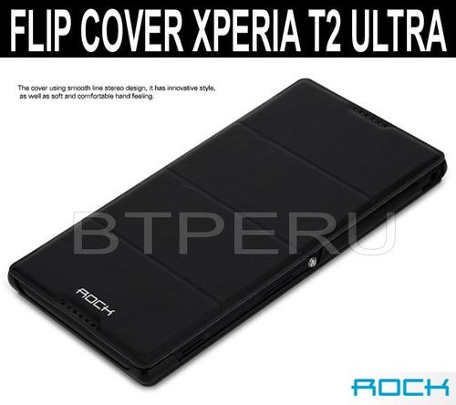 Funda Flip Cover Sony Xperia T2 Ultra D5303 Protector Rock