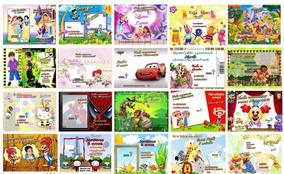 80 Convites Infantil Personalizado ( Frete Grátis)