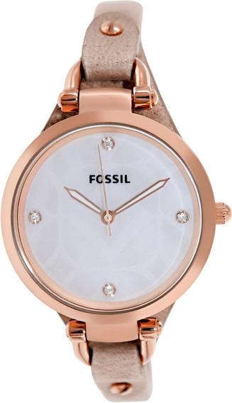 Relógio Feminino Fossil Es3151 Rose Georgia Novo Original