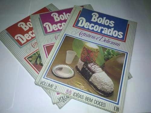 Coleção Bolos Decorados - Artísticos E Deliciosos 3 Volumes.