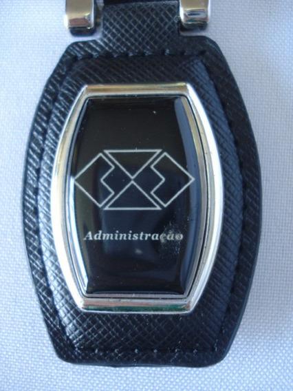 Chaveiro Luxo Administração Alça De Couro E Argola Metal