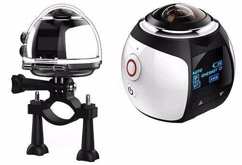 Mini Câmera Filmadora 360° Graus+ Acessórios. Pronta Entrega