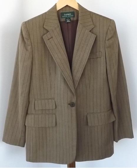 Blazer Importado M Ralph Lauren Luxuoso Elegante Lã, Bege