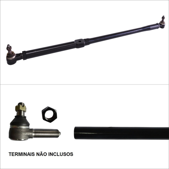 Kit Barra De Direção C/ Olhal + Barra Reta Troller Diesel