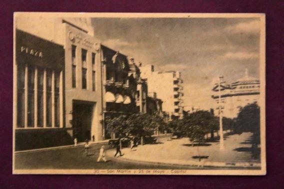 Antigua Tarjeta Postal -san Martin Y 25 De Mayo- (150060)