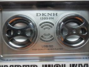 Rádio Recarregável Fm / Usb / Sd / Tf Modelo Dk-1203fm