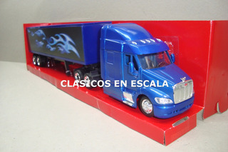 Peterbilt 387 Container With Blue Flame Design- New Ray 1/43