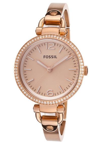Relógio Feminino Fossil Es3226 Rose Georgia Novo Original