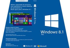 Windows 8.1 - 8 Pro 64/32 Bits Chave Original