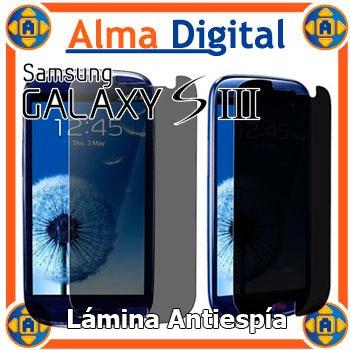 Lamina Protector Pantalla Antiespia Samsung S3 I9300 Siii
