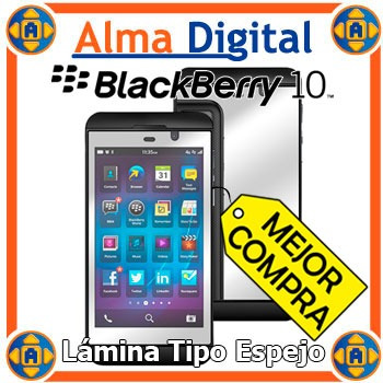 2 Lamina Protector Pantalla Espejo Blackberry Z10 Bb Mirror