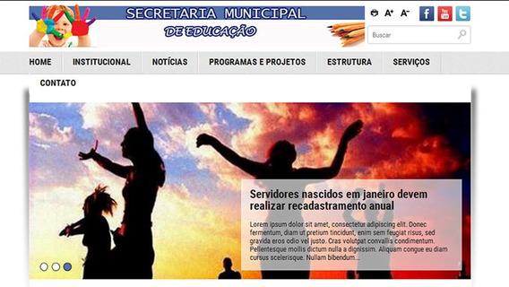 Site Notícias - Portal Prefeitura Secretaria Educação