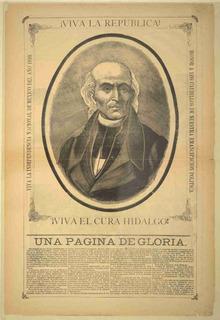Lienzo Tela Grabado Miguel Hidalgo Costilla Historia México