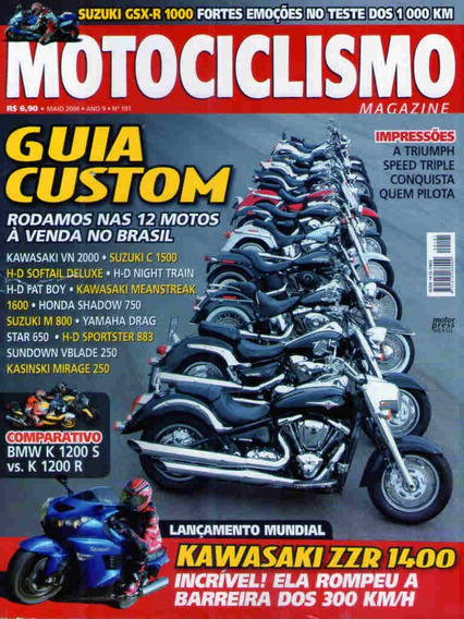 Motociclismo 101 * Vn 2000 * Mirage 250 * Bmw K 1200 S * Zzr