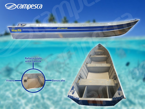 Barco Aluminio Borda Alta 6m Tibagi Superreforçado 2021 Novo