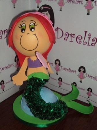 Boneca Ariel Em Eva 3d 23 Cm Princesas Disney - A2