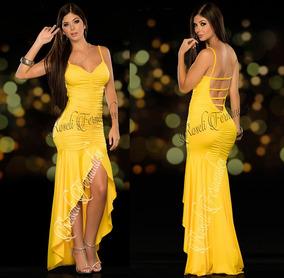 dd8557b3d Vestido Mullet - Vestidos Femininas Amarelo no Mercado Livre Brasil