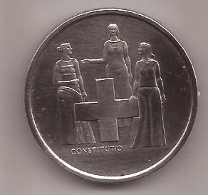Suiza Moneda De Niquel 5 Francos Año 1974 Conmemorativa