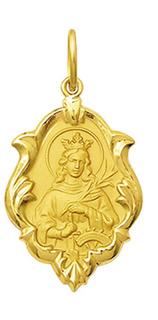 Medalha 2,6cm Nossa Santa Catarina Ouro 18k Ornato