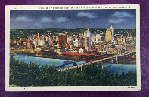 Antigua Tarjeta Postal Pittsburgh- Usa- (150053)