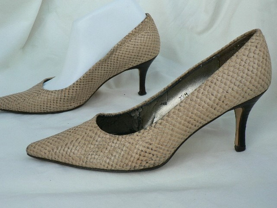 Zapato Clasico Cuero Reptil Nº 37.5 38 Etienne Aigner Espa