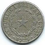 Moneda Del Paraguay 1 Peso 1925 Linda Monedita