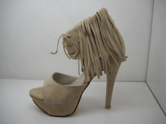 Stilettos Gamuza Con Flecos Solo 40