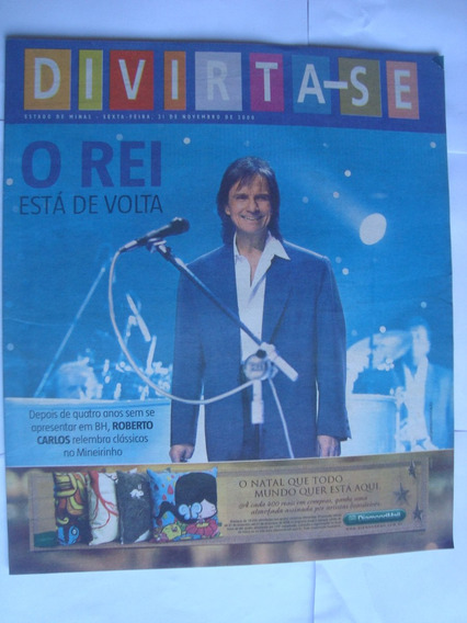 Revista Divirta-se Nov 2008 O Rei Roberto Carlos Esta Volta