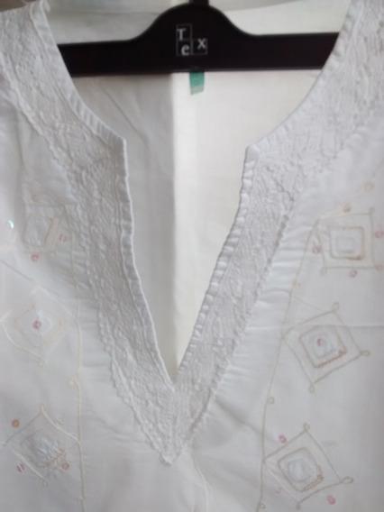 Camisola Blanca Bordada