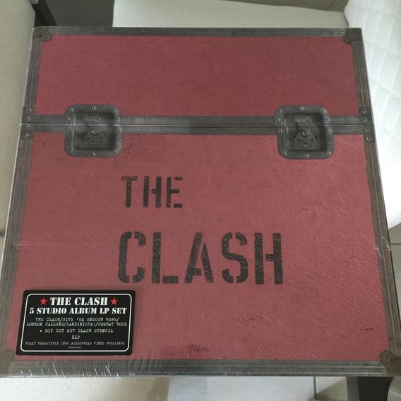 Lps The Clash 5 Studio Album Lp Set - Box Importado Lacrado!