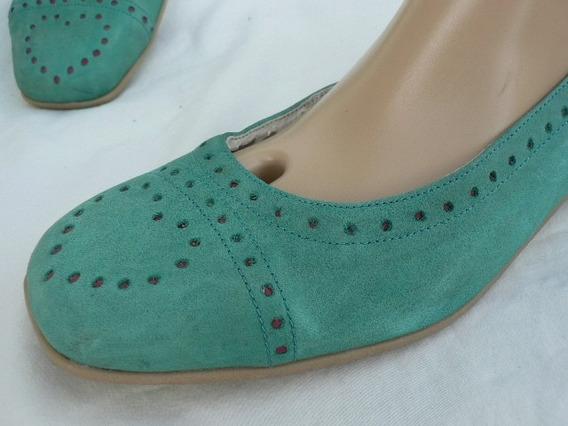 Zapato Chatita Mocasin Suela Goma Nº 39 Cuero