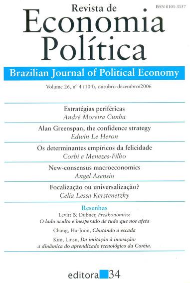 Revista De Economia Política Vol 26, Nº 4