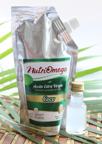 Imagen 1 de 6 de Aceite De Coco 250ml Prensado En Frio C - mL a $100