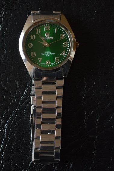 Relógio Masculino Verde Orimet Pequeno Qualidade Classico